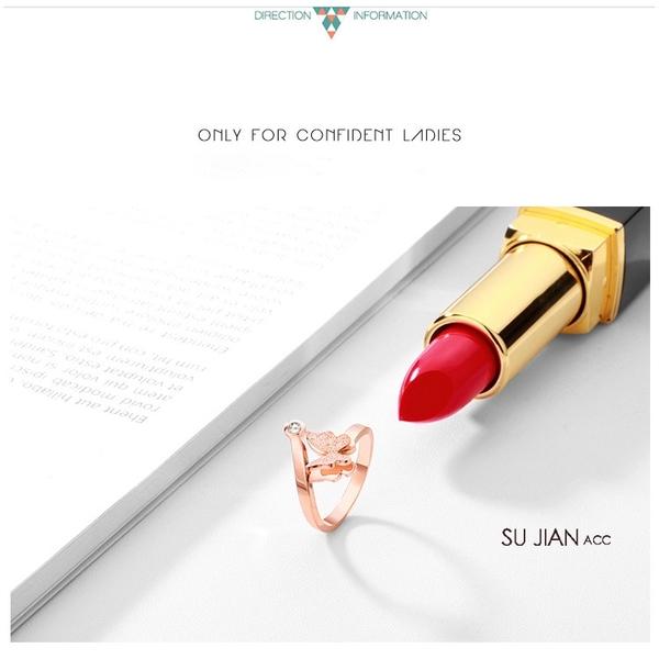 素簡手作《RO015》韓版18k玫瑰金開口可調戒指 尾戒 玫瑰金戒指
