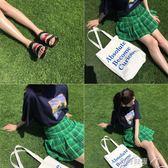 帆布包學生文藝韓版冠軍帆布包側背日繫托特包手提袋大包女 貝兒鞋櫃