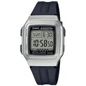 【CASIO】 新一代能量百分百膠帶電子錶-銀框(F-201WAM-7A)