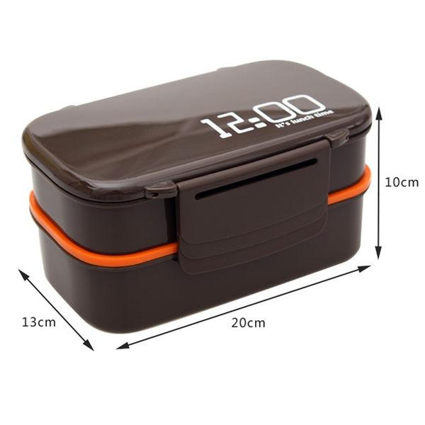 日式便當盒 成人塑料雙層餐盒2層長方形分隔飯盒 微波爐專用【時尚家居館】