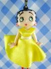 【震撼精品百貨】Betty Boop_貝蒂~手機吊飾-黃禮服