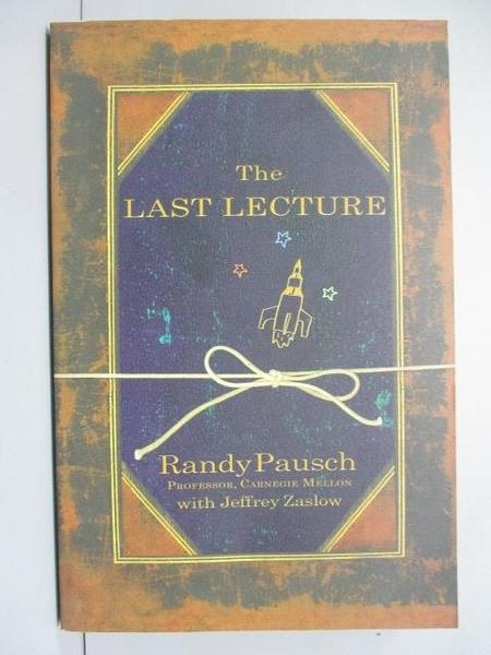 【書寶二手書T4/原文小說_IPW】The Last Lecture_Randy Pausch