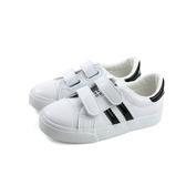 小男生鞋 休閒鞋 魔鬼氈 中童 童鞋 白色 B277 no148