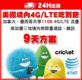 9天美加墨網卡 | 美國AT&T子公司Cricket 4G/LTE不降速吃到飽、含加拿大、墨西哥11GB高速流量