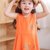 兒童洋裝 女童洋裝小寶寶全棉吊帶裙兒童夏季女孩裙子純棉無袖揹心裙夏裝