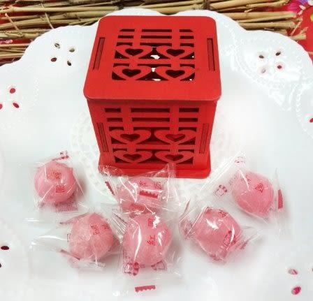 娃娃屋樂園~DIY囍字木盒(2個)+6顆湯圓(紅圓)軟糖(2份) 每組80元/婚禮小物/情人節花束/喜糖籃