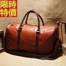 旅行袋-肩背經典商務包圓筒大容量男手提包66b33[巴黎精品]