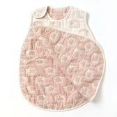 【日本 Hoppetta】日本製六層紗綿羊防踢背心 防踢被 (嬰童0-3歲)