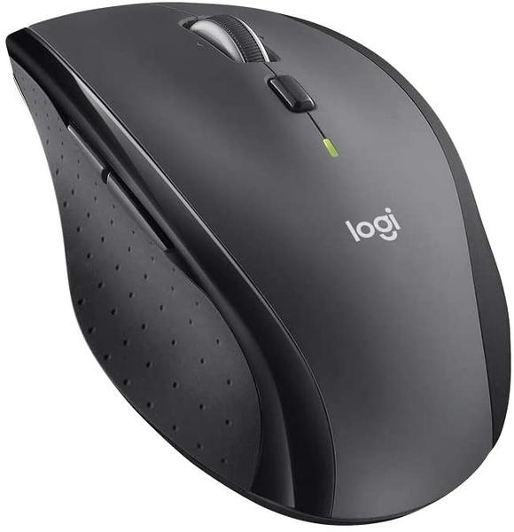【日本代購】Logi 羅技雷射無線滑鼠 M705 超省電 拇指按鈕+高速飛梭滾輪-Unifying (日版 灰色)