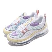 Nike 休閒鞋 Wmns Air Max 98 復活節 白 黃 紫 全氣墊 女鞋 粉色系 【PUMP306】 AH6799-300