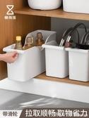 廚房帶滑輪鍋蓋架置物架塑料鍋具收納架收納盒儲物架66128 俏girl YTL