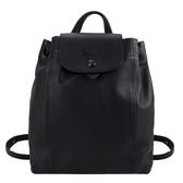 【南紡購物中心】LONGCHAMP LE PLIAGE CUIR系列黑釦小羊皮後背包(中/黑)
