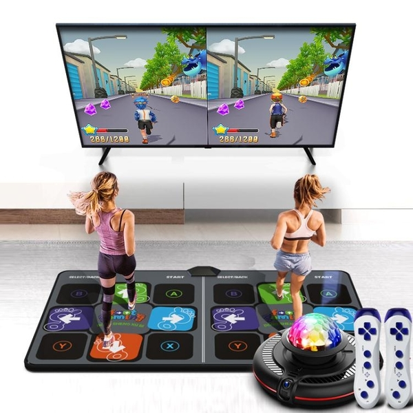 舞霸王雙人無線跳舞毯家用電視體感攝像頭游戲跑步毯跳舞機