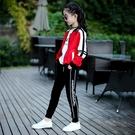 童裝女童春裝套裝新品兒童時髦洋氣春秋衛衣服大童運動三件套
