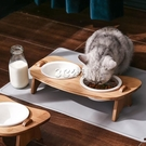 貓碗狗碗狗盆寵物雙碗喂食飲水陶瓷護頸狗狗食盆貓糧飯盆貓咪用品