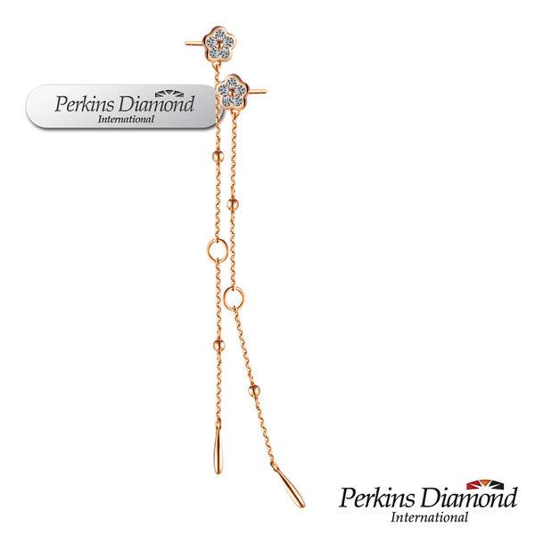 PERKINS 伯金仕 Dancer系列 14K玫瑰金鑽石耳環