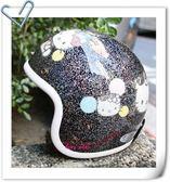 Hello Kitty金蔥安全帽,808/黑