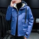 夾克外套加絨羽絨服 工裝加厚男生外套 短款男士外套 羽絨外套韓版外套 麵包服棉服男士棉衣