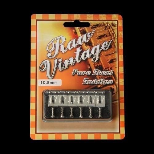 ☆ 唐尼樂器︵☆ RAW VINTAGE PURE STEEL SADDLES 電吉他小搖座琴橋( Fender 等吉他都可用)