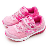 LOTTO 雙密度避震跑鞋 POWER UP 雙色動力系列 桃粉 5863 大童