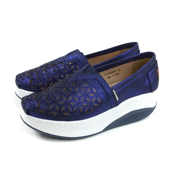 HUMAN PEACE 懶人鞋 厚底鞋 女鞋 深藍色 簍空 燙鑽 S-4193305 no007