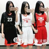 籃球服 女生女正韓套裝定制球衣 女印號字隊短袖球服比賽服 韓風嚴選