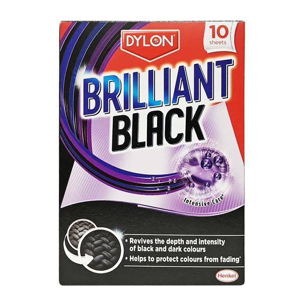 英國進口 Dylon 深色衣服專用 洗衣護色清潔片 每盒10片 (Brilliant Black)