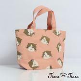 【Tiara Tiara】Tissue貓咪大集合手提袋 帆布袋(粉/藍)