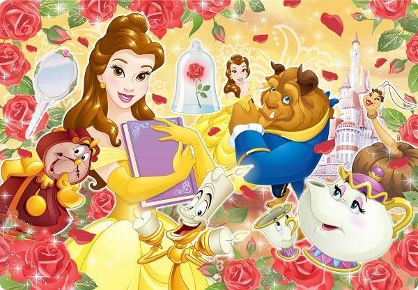 【拼圖總動員 PUZZLE STORY】美女與野獸 日系/Tenyo/迪士尼/80P/兒童/紙板