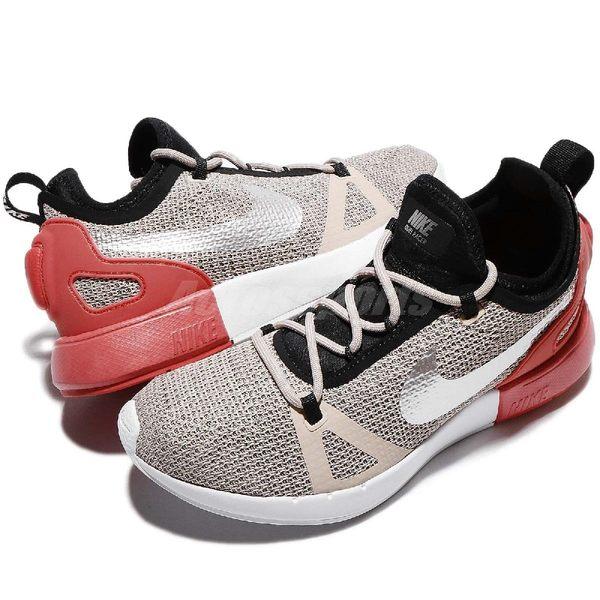 【四折特賣】Nike 慢跑鞋 Wmns Duel Racer 灰 紅 白 透氣網眼 襪套式 運動鞋 女鞋【PUMP306】 927243-201