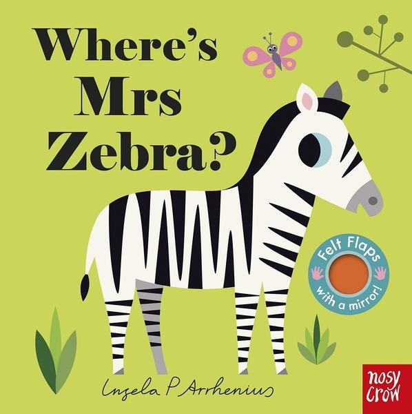 Where's Mrs Zebra? 斑馬在哪裡? 不織布翻翻書