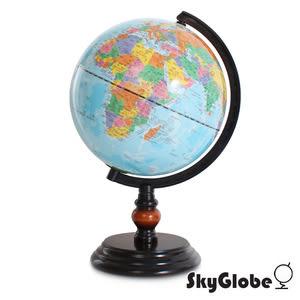 SkyGlobe 8吋行政藍色海洋木質地球儀(中英文對照)(附燈)