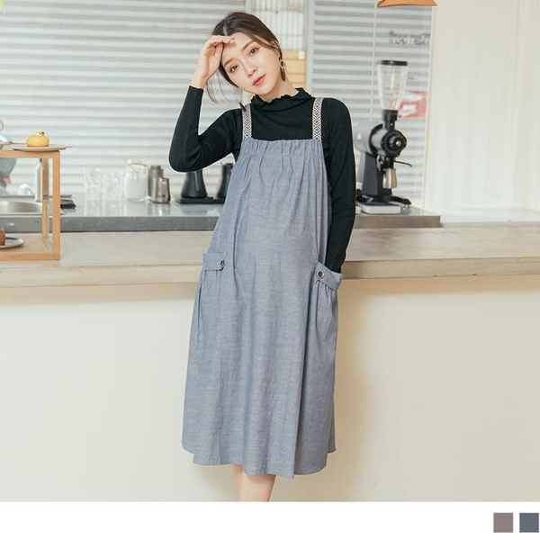 《MA0354》圖騰民族風純棉孕婦裝/孕婦洋裝 OrangeBear