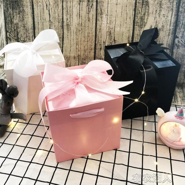 禮物盒 禮品盒子精美韓版 ins風禮物盒伴手小禮品盒口紅閨蜜生日禮物空盒 布衣潮人