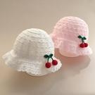 兒童遮陽帽 女寶寶遮陽帽子春秋薄款夏季女嬰兒嬰幼兒漁夫帽可愛超萌公主女童-Ballet朵朵