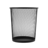 鐵網圓形垃圾桶黑色9L