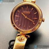 VERSUS VERSACE凡賽斯女錶34mm香檳紅錶面玫瑰金色錶帶