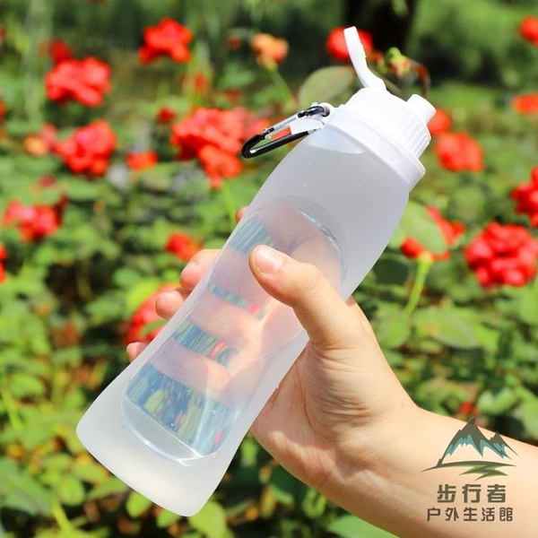 硅膠戶外水杯軟折疊便攜夏天摔不壞的杯子【步行者戶外生活館】