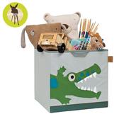 【雙12出清】德國Lassig-玩具儲物箱-小鱷魚