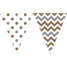 三角旗-幾何點點金屬色