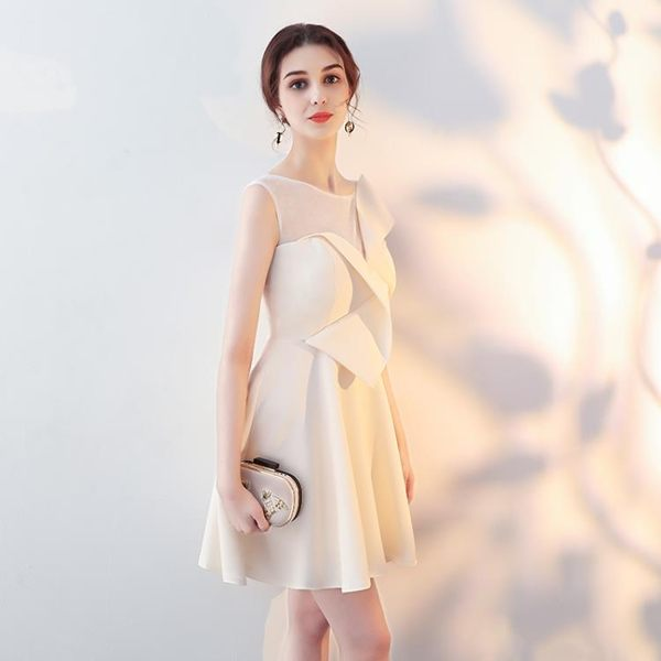 雙12購物節   宴會小晚禮服2018新款洋裝名媛生日派對聚會連身裙短款伴娘服顯瘦   mandyc衣間