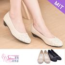 包鞋.台灣製MIT.金蔥蕾絲低跟包鞋.黑...