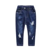 童裝2-8歲男童破洞牛仔褲2019夏季款新款男童長褲