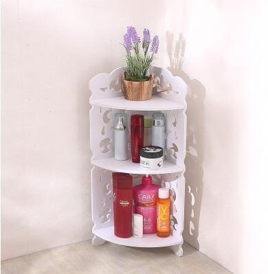 創意衛生間浴室吊櫃壁櫃收納置物架防水掛櫃洗手間【三層角架】