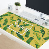 電腦桌墊 美式黃底樹葉 防水鍵盤墊 辦公桌墊 加長加大加厚加密鎖邊滑鼠墊 米蘭街頭