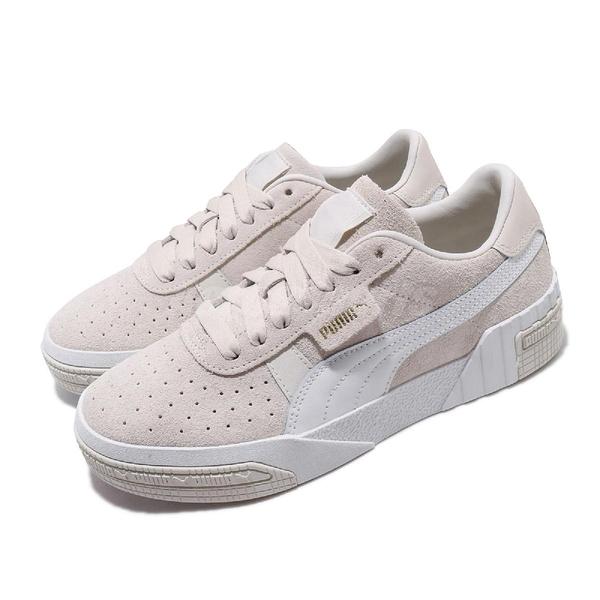 【六折特賣】Puma 休閒鞋 Cali Taped Wns 米白 白 女鞋 運動鞋 麂皮 【ACS】 37081901