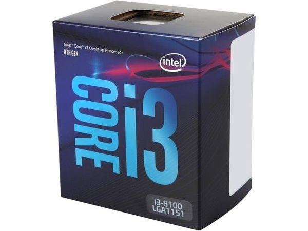 INTEL® CORE™ i3-8100 【4核/4緒】3.6GHz/6M快取/UHD630/65W【刷卡分期價】