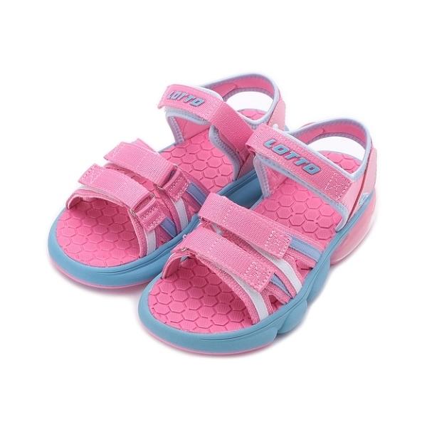 LOTTO 織帶氣墊涼鞋 粉紅 LT1AKS3203 中大童鞋