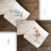 一件蘇繡DIY刺繡 手帕套件初學者適用含工具針法教程 現貨 聖誕交換禮物