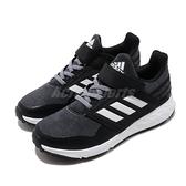 adidas 慢跑鞋 FortaFaito EL K 黑 白 童鞋 中童鞋 運動鞋 魔鬼氈 【ACS】 EE7309